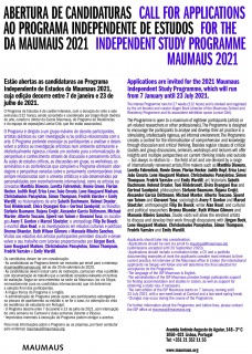 Call for Applications for the Independent Study Programme Maumaus 2021