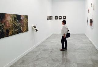 Vista de la sala. Exposición Variaciones de Escala (2015). Centro de Arte La Regenta, Las Palmas de Gran Canaria, España. Cortesía CO galería