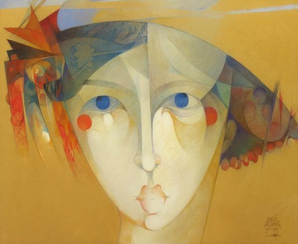 Jordi Alumà, Cap 31, pastel sobre paper japonès, 49 × 60 cm.