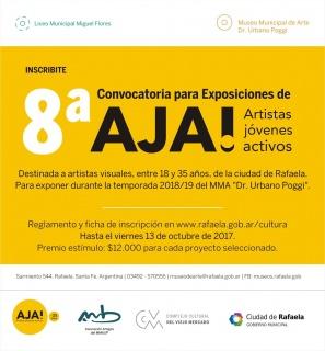 8ª CONVOCATORIA PARA EXPOSICIONES DE AJA! (ARTISTAS JÓVENES ACTIVOS)