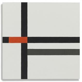 Tensiones Lineales 11, 2017, Óleo sobre lienzo, 50 x 50 cms | César Paternosto. Cortesía de Guillermo de Osma