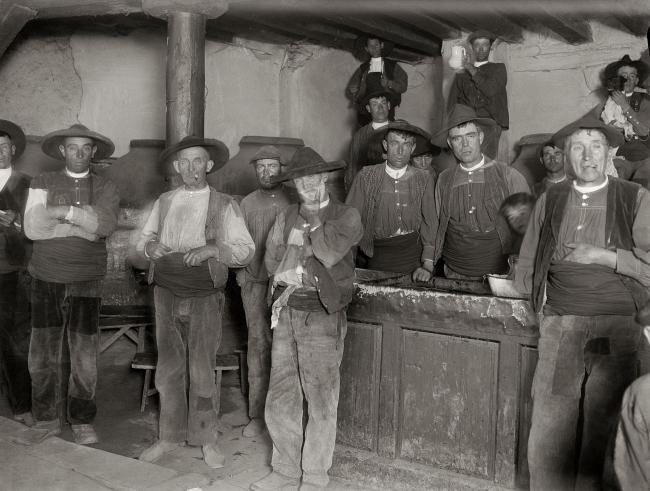 Otto Wunderlich, En la taberna. Arenas de San Pedro (Ávila), 1921-1922 – Cortesía de Promoción del Arte