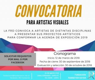 Convocatoria para Proyectos Artísticos 2019 FRD. Imagen cortesía Fundación Ramseyer Dayer