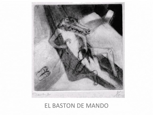 Francisco Toledo, Bastón de mando — Cortesía de la Galería Juan Martín