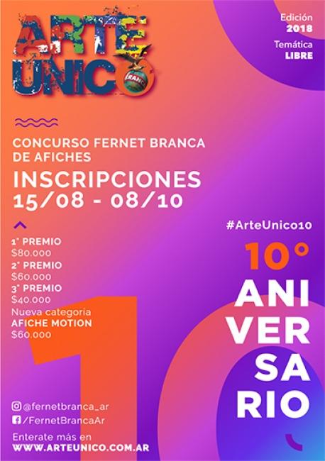 Concurso Fernet Branca de Afiches Arte Único- Decimo Aniversario