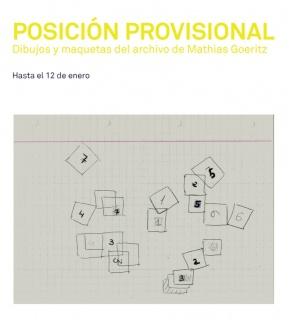 POSICIÓN PROVISIONAL. Dibujos y maquetas de Mathias Goeritz. Imagen cortesía PROYECTO PARALELO