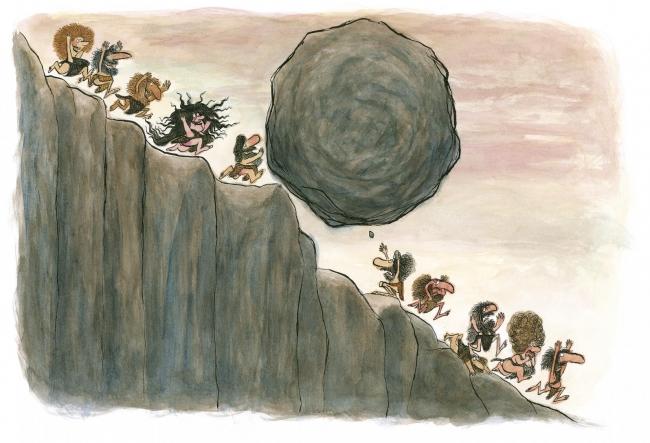 André Bouchard, Ilustración de Antes, cuando no había colegio — Cortesía del Museo ABC