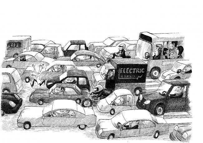 André Bouchard, Ilustración de Ernesto, amo del mundo — Cortesía del Museo ABC
