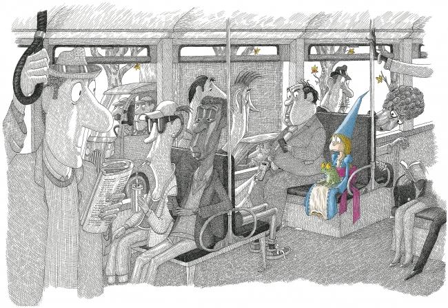 André Bouchard, Ilustración de Un Hada Descontrolada — Cortesía del Museo ABC