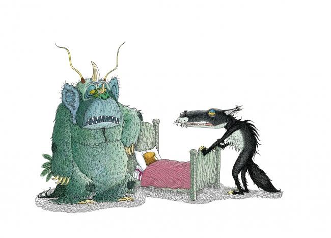 André Bouchard, Ilustración de ¡Soy el lobo! — Cortesía del Museo ABC