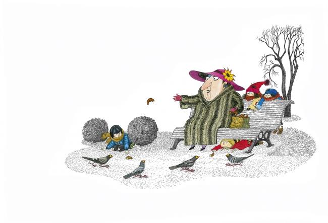 André Bouchard, Ilustración de Los Simblanca — Cortesía del Museo ABC