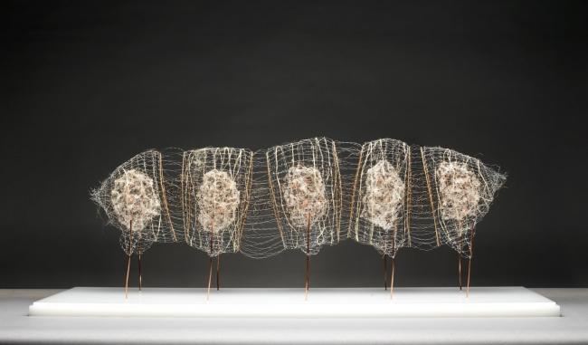 Antonio Crespo Foix, Espacios articulados II, 2019. Alambre, bambu? y materias vegetales 116 x 55 x 41 cm — Cortesía de Michel Soskine Inc.