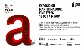 Martin Majoor. Five Types - Invitación