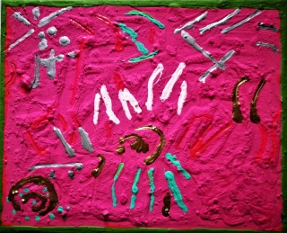 6 de la Serie Abstracción poética. Poética de la abstracción. 27 por 22 cm. mixta sobre tela. 2019