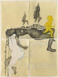 Sanrdra Vásquez de la Horra, América sin Fronteras, 2017 — Cortesía de David Nolan Gallery