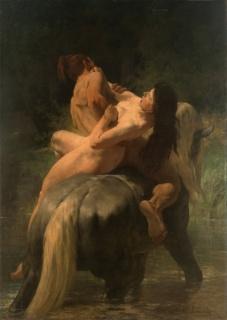 Evariste-Vital Luminais, El rapto, 1890. Óleo sobre tela, 220,5 x 157 cm, Inv. 2475