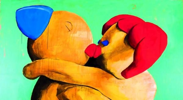 Michel Pérez (Pollo), Simpatía, 2008, acryl op doek, 263 x 335 cm, particuliere collectie