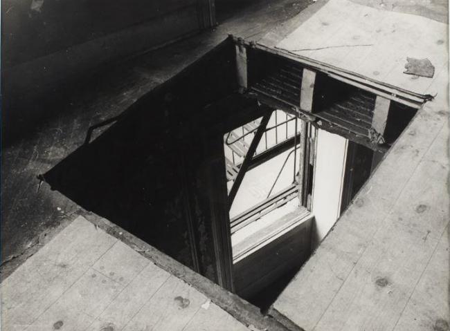 Gordon Matta-Clark, Bronx Floors, 1973. Gelatin silver prints, Print: 11 x 13 7/8 inches, 27.9 x 35.2 cm
