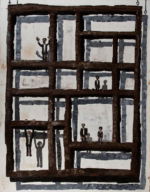 Ignacio Iturria Torres García, 1998. Oleo sobre lienzo, 190 x 150 cm. Cortesía de la Fundación Iturria Montevideo Uruguay