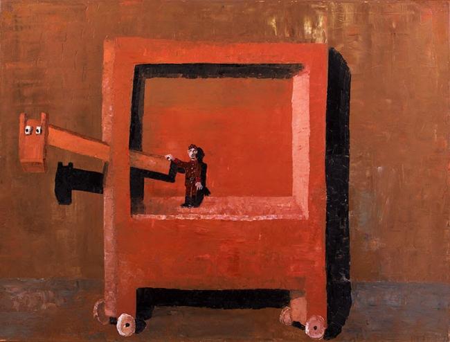 Ignacio Iturria El Ruso, 2001. Oleo sobre lienzo, 100 x 133 cm. Cortesía de la Fundación Iturria Montevideo Uruguay