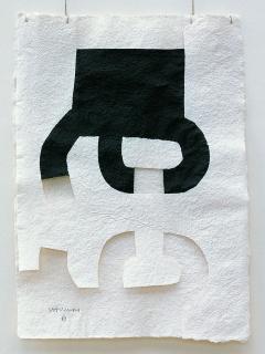 Eduardo Chillida (Spanish, 1924–2002), Gravitación. Elogio del agua / Gravitation. In Praise of Water, 1987. Ink on paper and thread. © 2017 Zabalaga – Leku, Artists Rights Society (ARS), New York / VEGAP, Madrid