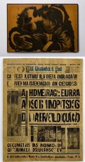 "Geraldo de Barros, ""They are kissing (positive)"", 1964 Waldemar Cordeiro, ""Jornal"", 1964. Imagen cortesía Luciana Brito"