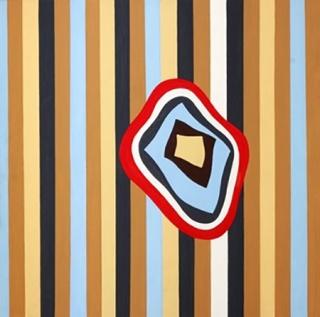 De Sagastizabal Tulio Soy una nuez nº3 | acrílico s/tela | 150 x 150 cm | 2000
