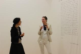 Artist talk: Ruth Horak with Juliana Herrero. Foto ©Michaela Tomaselli