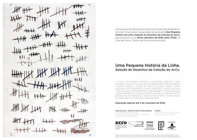 """Imagem: Sara & André, """"Estudo para contagem dos visitantes do Pequeno Museu da Rua de São Bento e Arredores, conforme transcrita por Gemma & José"""", 2015, Grafite e lápis de cor s/papel vegetal, 29,5x24cm."""