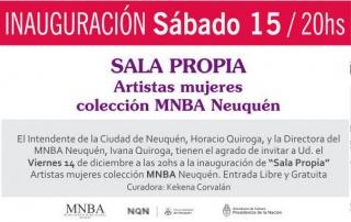 Sala Propia. Artistas mujeres colección MNBA Neuquén