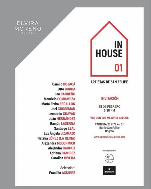 Cartel de la muestra In house 01