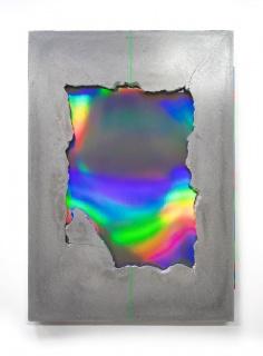Demsky J., PHASE 1. 50 x 70 cm. Concrete and mixed media / Cemento y técnica mixta. 2019 — Cortesía de Delimbo Gallery