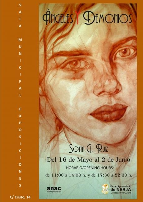 CARTEL ANGELES Y DEMONIOS. SOFÍA G. RUIZ