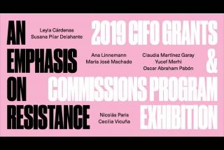 CIFO 2019 Grants & Commissions
