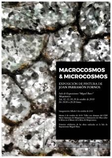 """Cartel de la exposición: """"Macrocosmos&Microcosmos"""""""