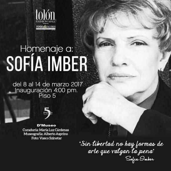 Homenaje a Sofía Imber