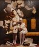 Diego Dayer, Guardianes de la memoria IV, óleo sobre tela, 50 x 60 cm. (obra ganadora) — Cortesía del Fundación Jorge Alió