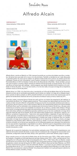Alfredo Alcain. Autorretratos, 1954-2018
