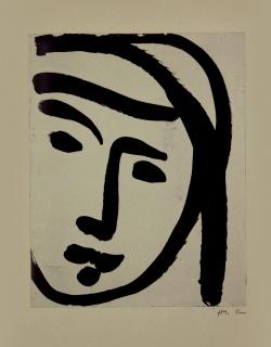 Henri Matisse, Bédouine au large visatge, 1947 Aguatinta sobre papel vitela, 51 x 38 cm, PA — Cortesía de la Galería Marlborough