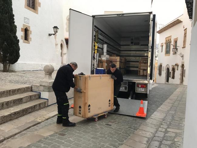 Imagen del traslado — Cortesía de Museus de Sitges