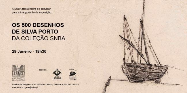 Os 500 Desenhos de Silva Porto na coleção da SNBA - Invitación