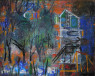 Margarita Gámez. Paisaje soñado, 81x65 cm. Óleo sobre tela — Cortesía de Abartium galería de arte