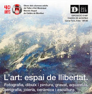 Cartell exposició teballs alumnes Taller d'art Manolo Hugué