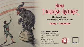 Cartel de la exposición TOULOUSE-LAUTREC