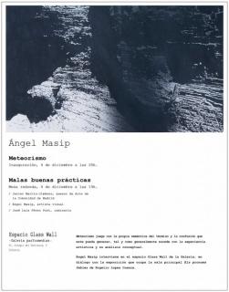 Ángel Masip, Meteorismo