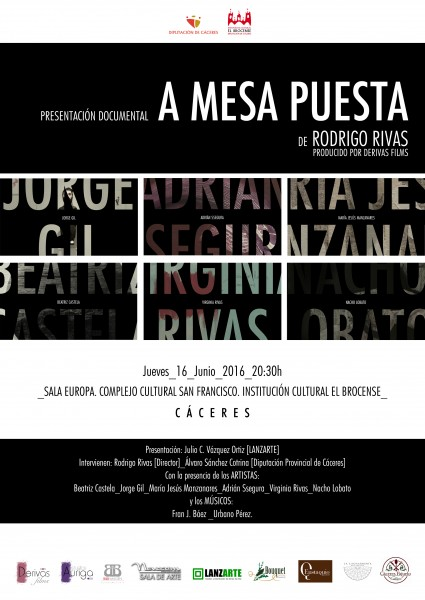 Cartel premier documental A Mesa Puesta