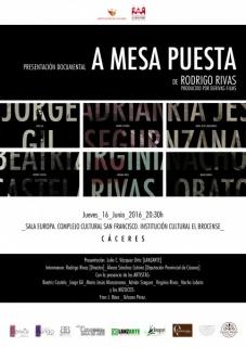 Cartel premier documental A Mesa Puesta