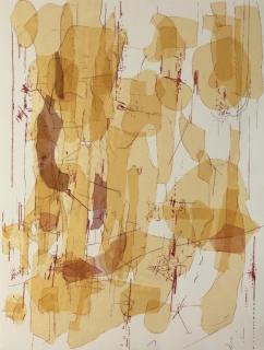 HEMATOMA GRANDE 1, 2018, bordado sobre papel, 110 x 75 cm.  43 x 29.5 in