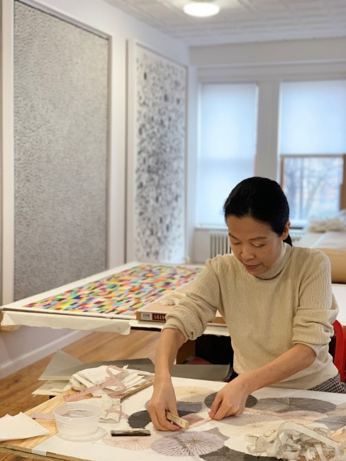 Minjung Kim, obra en exposición en Menorca — Cortesía de la Galería Cayón
