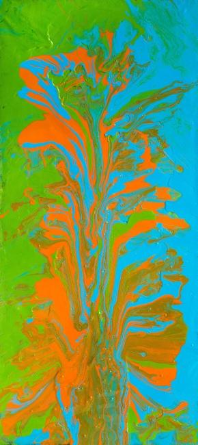 """Epidendrum"" / Esmalte sobre lienzo / 90 x 40 cm. / 2019"